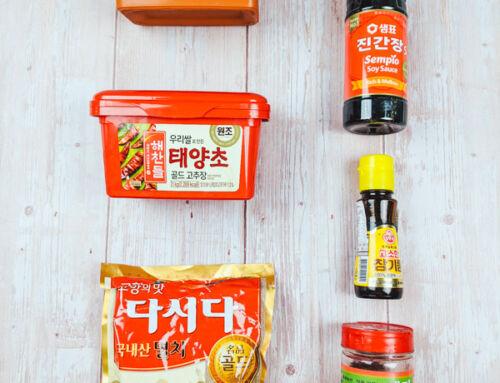 Les ingrédients essentiels dans votre cuisine pour cuisiner coréen !