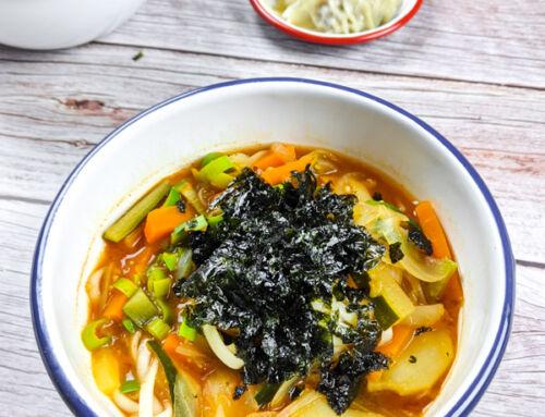 Jang Kalguksu / Nouilles coréennes épicées végétariennes / 장칼국수
