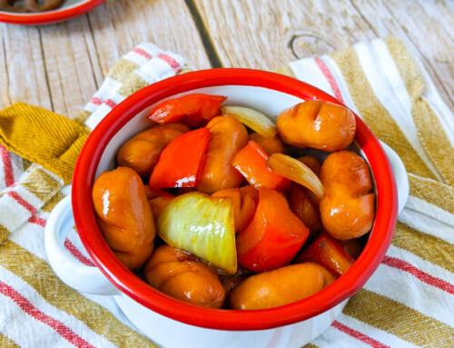 Ganjang Ssoya / Saucisses et légumes sautés à la sauce soja / 간장쏘야