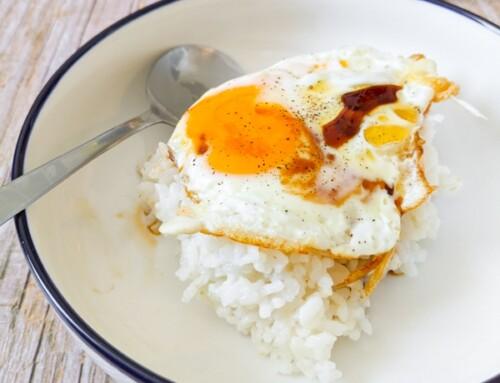 Riz avec œuf au plat et sauce soja / Ganjang Gyeran Bap / 간장계란밥