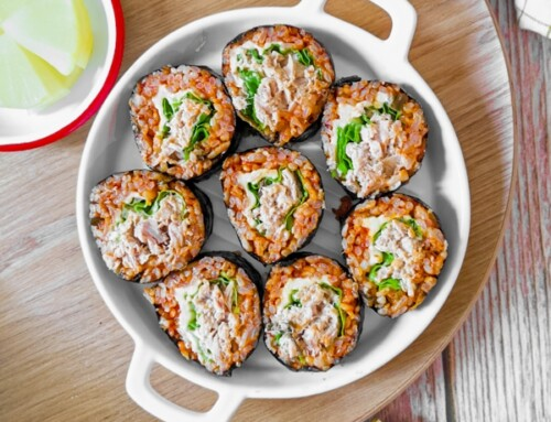 Kimbap au riz sauté au Kimchi / Kimchi Bokkeumbap Kimbap /김치볶음밥 김밥