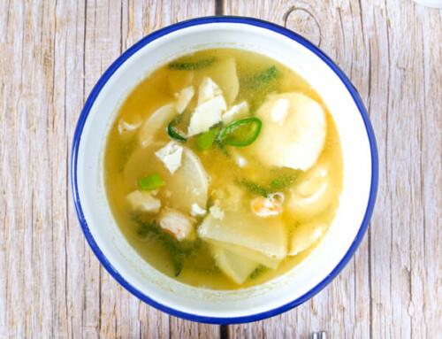 Soupe de crevettes et de sundubu / Saeu Sundubu Guk / 새우순두부국