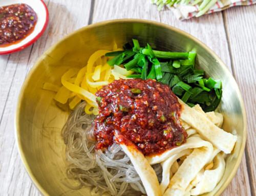 Busan Bibim Dangmyeon / Nouilles de patates douces style Busan / 부산비빔당면